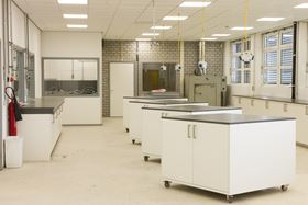 The training facility's cleanroom.