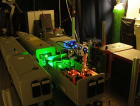 Figure 1: Photo of the pump-probe laser system used in photocatalysis.