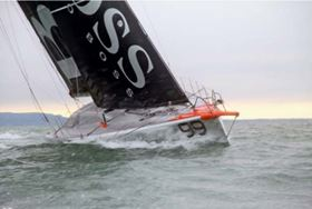 Caterham Composites and Altair provided engineering support to help Alex Thomson finish the Vendée Globe 2012/2013 in third place. (Picture courtesy of C. Launay/ Alex Thomson Racing/ HUGO BOSS.)