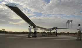The Zephyr solar powered unmanned aircraft.