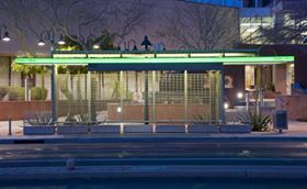 AOC's Chroma-Tek pigment dispersion ensures the precise green shade for composite bus shelter grids.