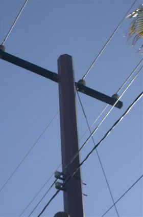 Powertrusion composite pole.