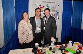 Somerset College's mobile additive manufacturing platform team (from left to right): Elaine Kohrman, director of grants, SCC, Dr Ismail Fidan, engineering professor at Tennessee Technological University, and Eric Wooldridge, SCC professor and director of AMCOE.