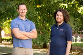 Simon Rogers (left) with graduate student Gavin Donley (right). Photo: L. Brian Stauffer.