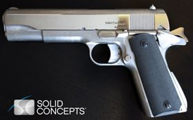The 3D printed gun from Solid Concepts.