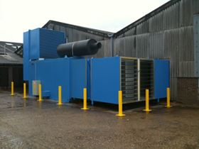 A Combined Heat and Power Unit at one of Living Fuels' generation plants