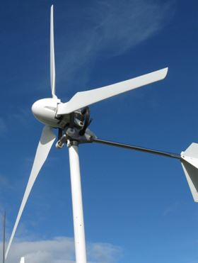Natural fibre reinforced plastic blades have been used for a rooftop wind turbine.
