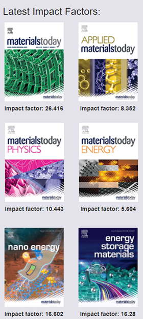 New Impact Factors for Materials Today Journals