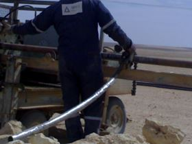 Figure 3: Made up Duoline® D-20 lined tubing quick laying speed with rudimentary equipment for the project under the guidance of licensee MaxTube.