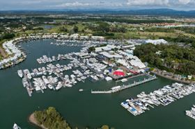 The Sanctuary Cove International Boat Show is held in Queensland, Australia.