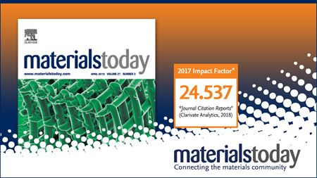 Materials Today Journal Impact Factor reaches 24.537