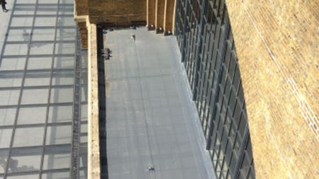 Scott Bader glass fiber roof replaces bitumen