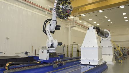 NASA robot to build biggest ever composite rocket parts