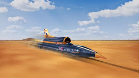 UK supersonic BLOODHOUND features aerodynamic AM 'nose'