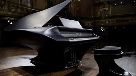 Liszt-inspired piano has carbon fiber soundboard