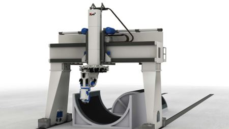 MAG GEMINI system combines fibre placement and tape laying in one machine