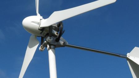 Natural fibre reinforced plastic blades used for rooftop wind turbine