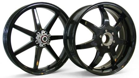 Motorcycle wheels made from carbon fibre prepreg