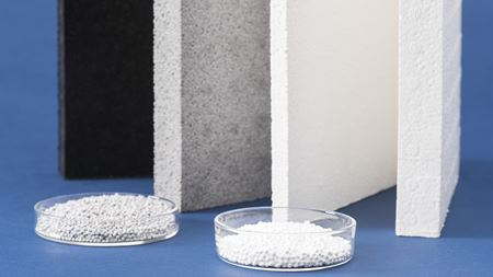 Particle foam has high temperature resistance