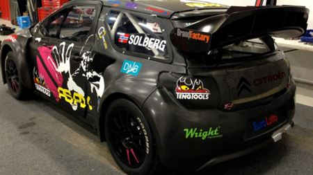 Galway Carbon provides composites bodywork for Petter Solberg's rallycross car