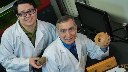 Graphene displays labeling abilities on toast, coconuts and potatoes