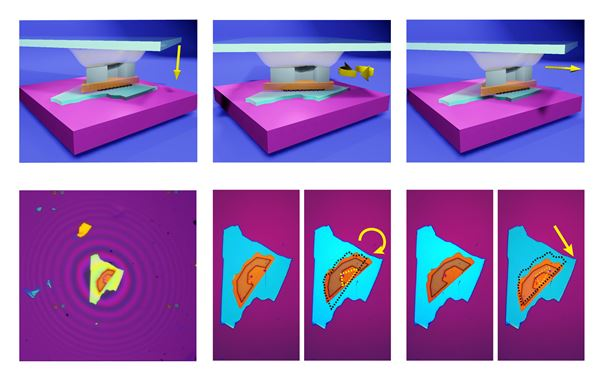 Fine tuning the twist between 2D materials in van der Waals heterostructures