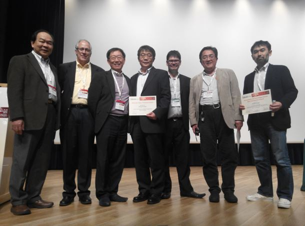 Left to right: Session Chair T. G. Nieh, Session Chair Steve Zinkle, Conference Chair C. T. Liu, Session Chair and Conference Award winner Mingwei Chen, Materials Today Editor Stewart Bland, Contributor Award winner Masahiko Ando, Contributor Award winner Yoshinori Sato.